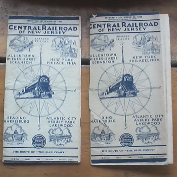 Central Railroad Of New Jersey Timetables