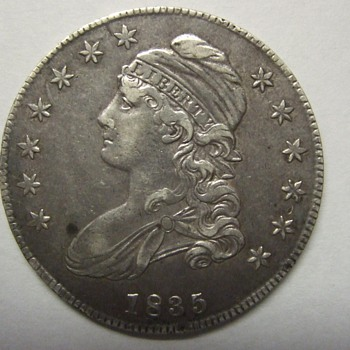 1835 Bust Half Dollar and 1833 Bust Half Dime