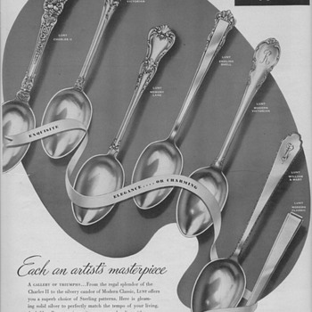 1950 Lunt Silversmiths Advertisement