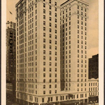 Postcard - The Barlum Hotel, Detroit, Michigan - Postcards
