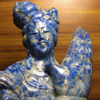 Lapis stone carving
