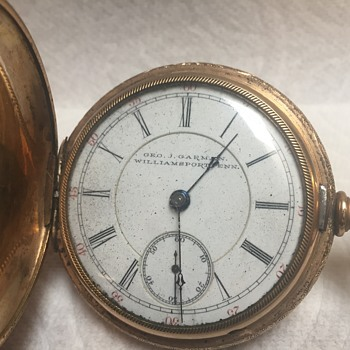 Antique Pocket Rockford watch company with 14 K filled hunter style case