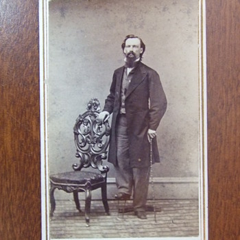CDV of New York man with birth defect
