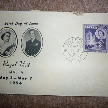 Rare Maltese First Day Cover 1954 - Stamps