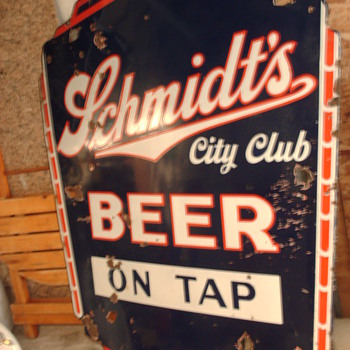 5 FOOT SCHMDT`S PORCELAIN (NEON) SIGN