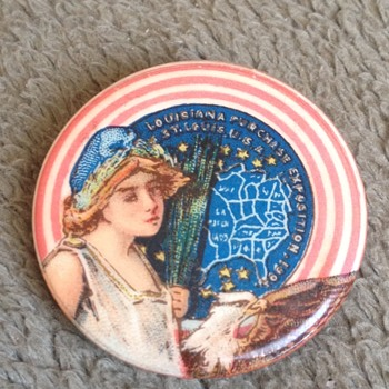 Rare 1904 Louisiana Purchase World Fair Expo St. Louis Pinback