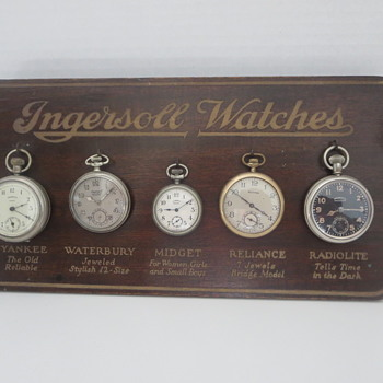 Another Ingersoll Watch Store Counter Display - Advertising