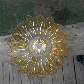 Sunflower Glass Dish