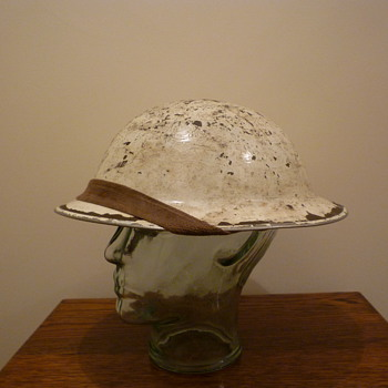 British WWII Winter Cammo steel helmet - Military and Wartime
