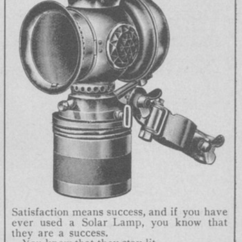 1902 Solar Oil Lamps Advertisement