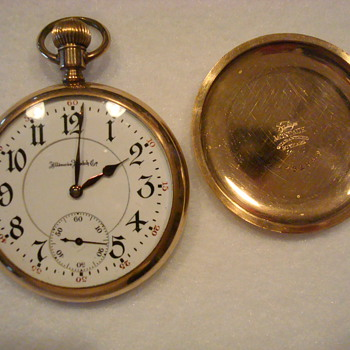 Illinois Watch Co pocket watch./A. Lincoln model/Fahys- Montauk case - Pocket Watches