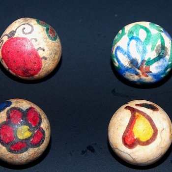 Folk Art Marbles - Art Glass