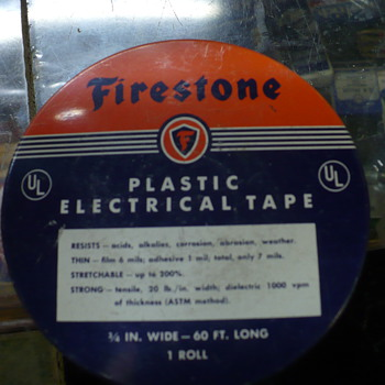 Firestone electrical tape can - Advertising