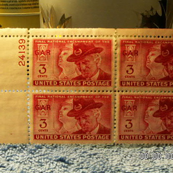 1949 Final National Encampment of the GAR 3¢ Stamps (4)