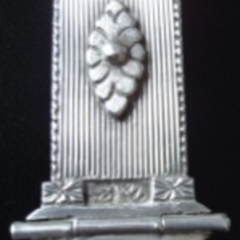 Large silver Empire brooch