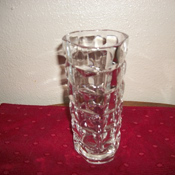 heavy glass vase stamped france 22 - Glassware