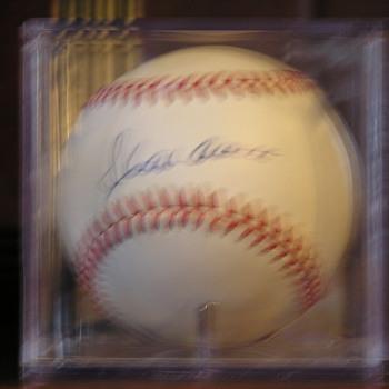 Hank Aaron Autographed Baseball - Baseball