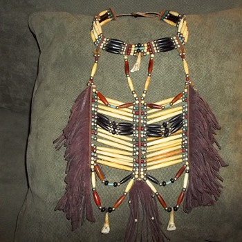 Breastplate with Choker Attached, made in the 1980's
