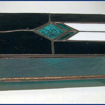 Glass and Copper Flashing -- Jewelry Box - Art Glass