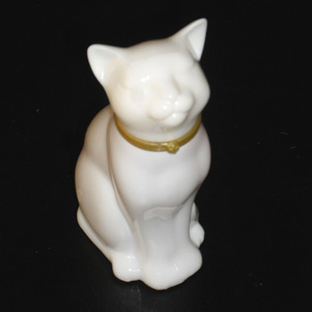 My white cat perfume bottle - Avon
