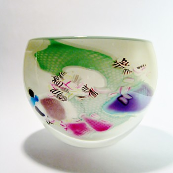 UNKNOWN CASED ART GLASS  BOWL - Art Glass