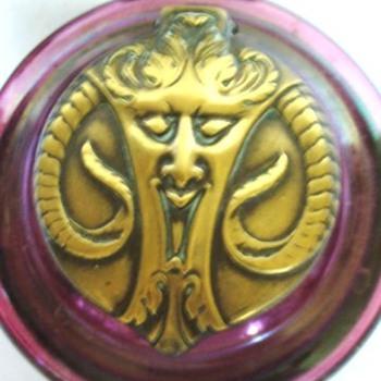 KRALIK INKWELL TOPS: FIGURALS - Art Nouveau