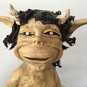 Hand crafted pottery Faun