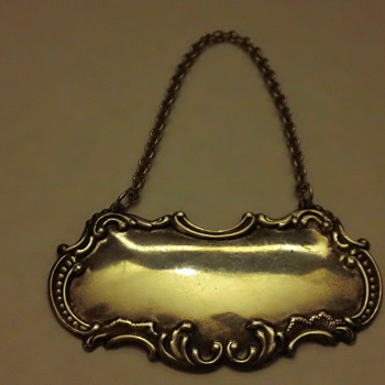 Gorham Sterling Silver Decanter Hanger - Sterling Silver