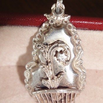Silver Dutch Peasant Pendant 19th Century