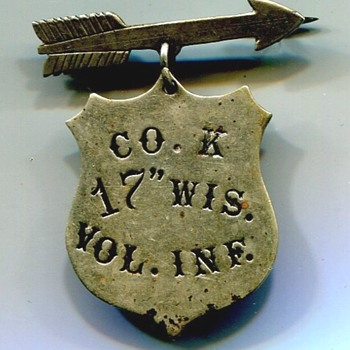 Unlisted Wisconsin Civil War Badge - Military and Wartime