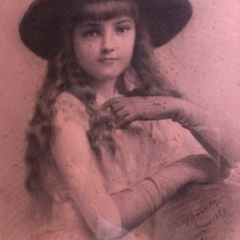 Painting - Young Girl in Hat & Gloves