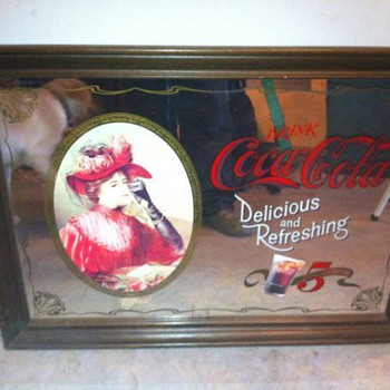 Classic Coca Cola Mirror.