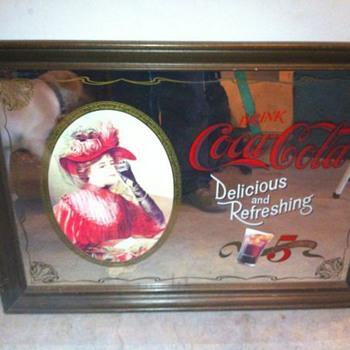 Classic Coca Cola Mirror.