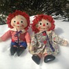 """Labeled Knickerbocker 20"""" Raggedy Ann and Andy Dolls"""