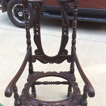 Unusual mahogany chair
