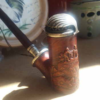 Hand Carved German Pipe late 1800s - Tobacciana