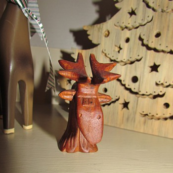 Whimsical Wooden Moose from AmberRose and Elves!!! : ) Folk Art Owl - Animals