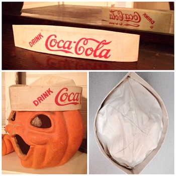 1920's Soda Jerk Hat - Coca-Cola