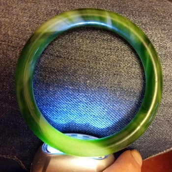 Antique Jade Bangle? Or Glass. - Fine Jewelry