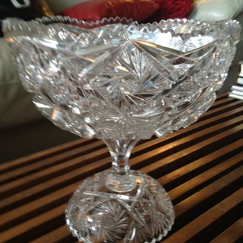 American Brilliant Cut Glass Punchbowl (Smaller Size) - Glassware