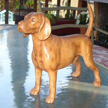 CERAMIC FIGURINE  LAB DOG? - Animals