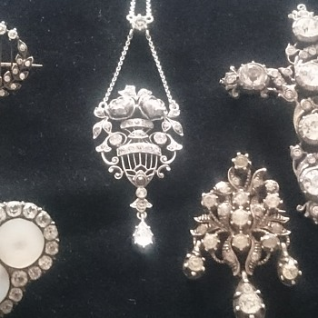 My collection of antique paste jewelry