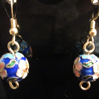 Cloisonne earrings, ID help please - Costume Jewelry