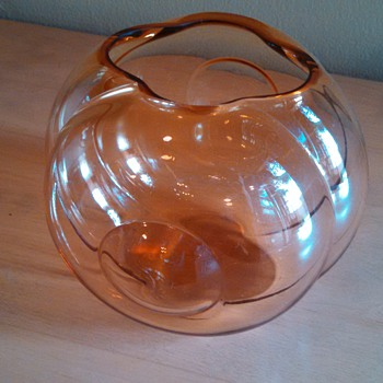 Art Deco Sakier Fishbowl Vase