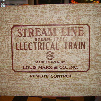 Tin  Marx Train set in original box.Very good condition appears to have been used very little. - Model Trains