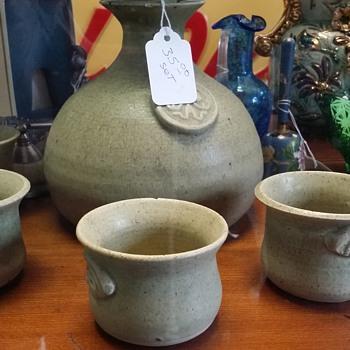 peculiar stoneware set