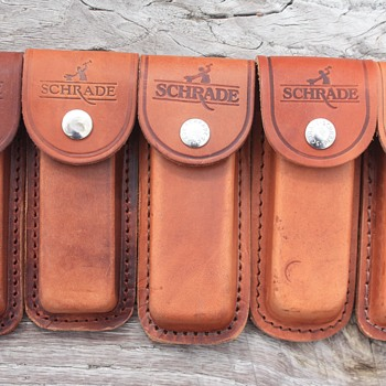 A WHOLE BUNCH OF SCHRADE KNIFE SHEATHS