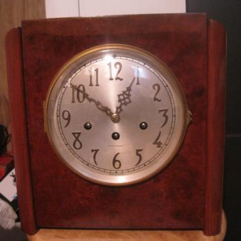 1934 Seth Thomas Art Deco Chime Clock #81 - Clocks