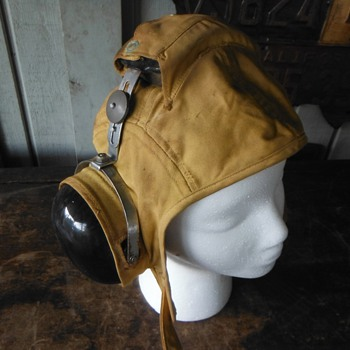 USS Saratoga Flight-deck helmet and headset - Military and Wartime