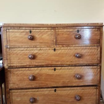 Antique huge tall boy dresser